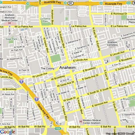 anaheim usa map map of anaheim united states hotels accommodation