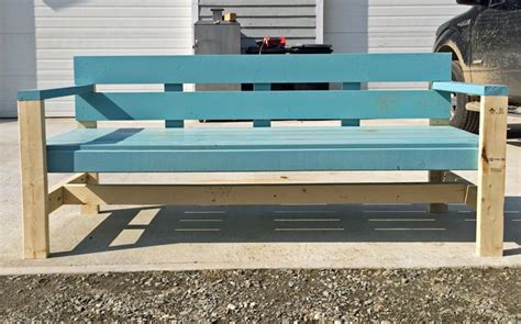 build a park bench ana white modern park bench diy projects