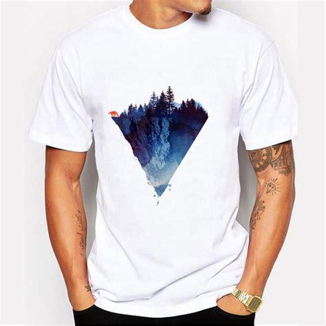 design t shirt murah fashion iceberg print t shirt men mountain design t shirts