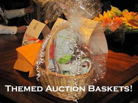 themed gift basket ideas for auction themed basket auctions
