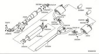 2008 Nissan Altima Exhaust System 1996 Nissan Altima Exhaust System Diagram Auto Parts