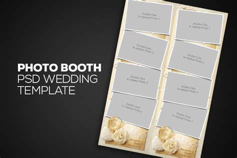 Photo Booth Psd Template photobooth psd wedding template templates on creative market