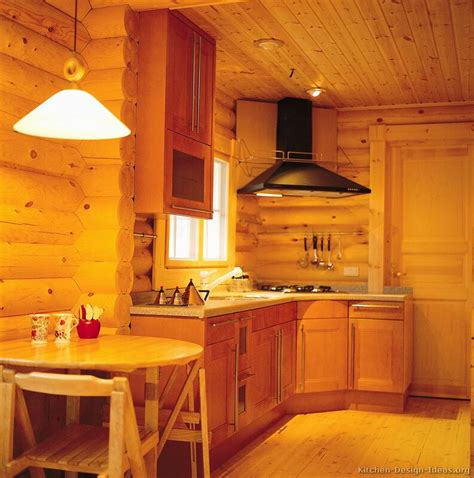Cabin Kitchen Ideas Log Home Kitchens Pictures Design Ideas