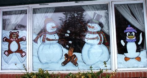 window painting signs christmas holiday seasonal artist uncategorized heartland painters