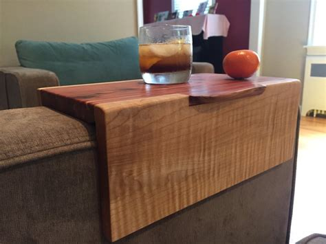 the arm sofa table live edge sofa arm table by kryptix lumberjocks com
