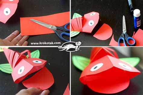 How To Make A Fish Out Of Paper Plate - how to make a cool moving fish out of paper
