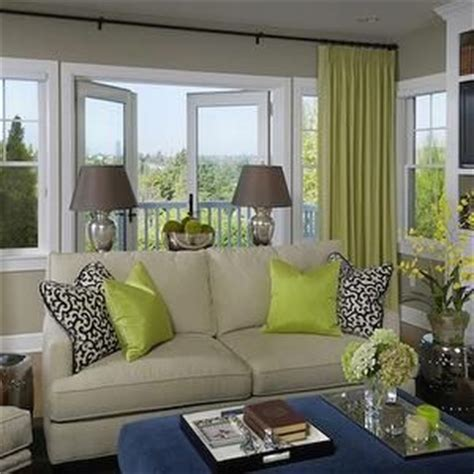 curtains for beige sofa graciela rutkowski interiors living rooms chartreuse
