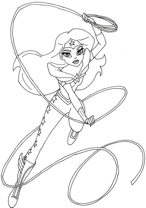 coloring pages for wonder woman free printable super hero high coloring pages wonder