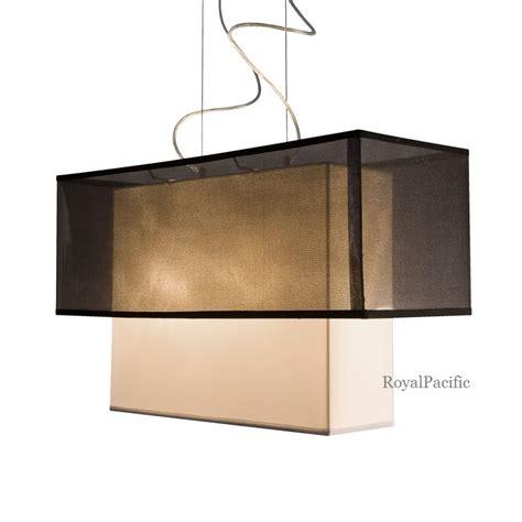 Rectangular Shade Pendant Light 2 Tier Black Shimmer Shade Chandelier Pendant Lighting Fixture Rectangular Ebay
