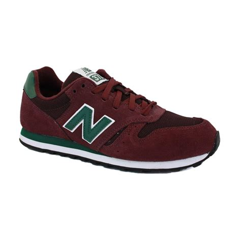burgundy running shoes new balance 373 m373smg mens suede mesh laced running