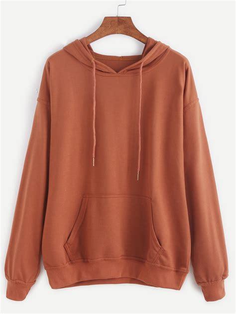Jaket Sweater Hoodie For Persija Hoodie drop shoulder hooded drawstring sweatshirt shein sheinside
