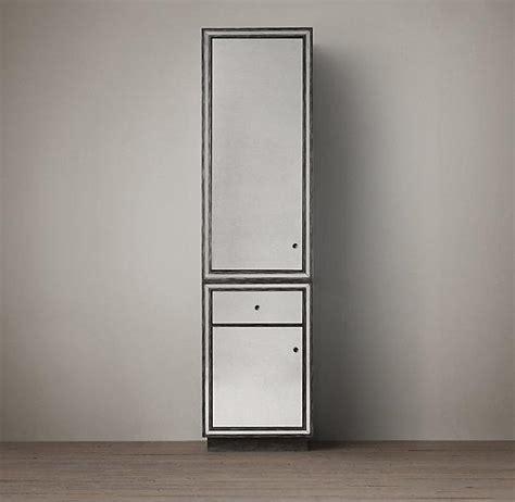 Mirrored Bathroom Tallboy Strand Mirrored Cabinet 84 Quot I Restoration Hardware
