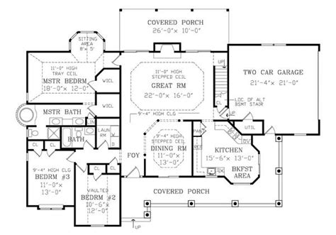 home floor plans 2800 square feet featured house plan pbh 2800 professional builder
