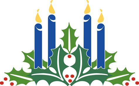 blue christmas service clipart second week of advent clipart