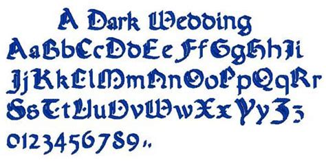 a dark wedding font styles embroidery font a dark wedding from bella mia designs