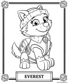 print paw patrol everest coloring pages paw patrol birthday party tegninger og