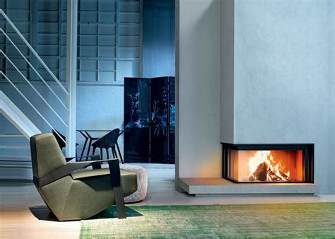 Modern Corner Fireplaces by 1000 Images About Modern Design 2 Sided Corner Fireplace