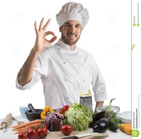chef cucine cuisine of expert chef stock image image of confident