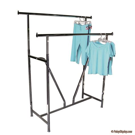 rail rack garment rack double rail rack with v brace garment rack racks palay display