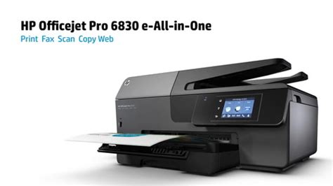 Printer Hp Officejet Pro 6830 E All In One hp officejet pro 6830 wireless e all in one printer scanner copier fax by office depot officemax