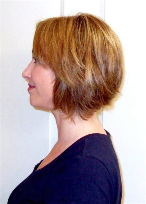 pictures of a line haircuts with bangs layered transient bob chin length a line bob with side