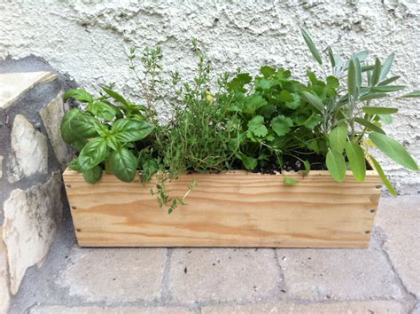 diy herb garden box meremade diy wine box herb garden