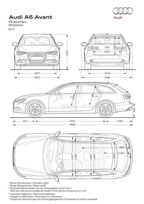 Audi A6 4b Tankinhalt by Audi A6 Avant 2 0 Tdi 2011 Autokatalog Ma 223 E Und Gewichte