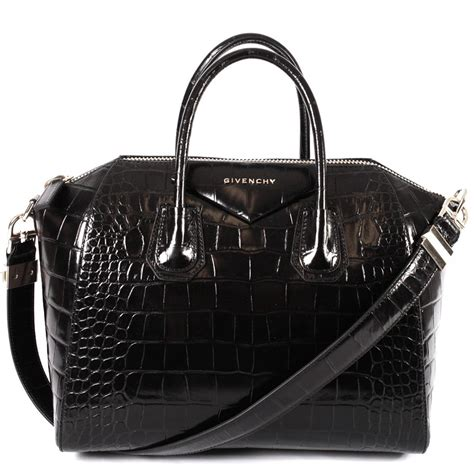 Details Givenchy Antigona Croco givenchy antigona shiny croc sted medium