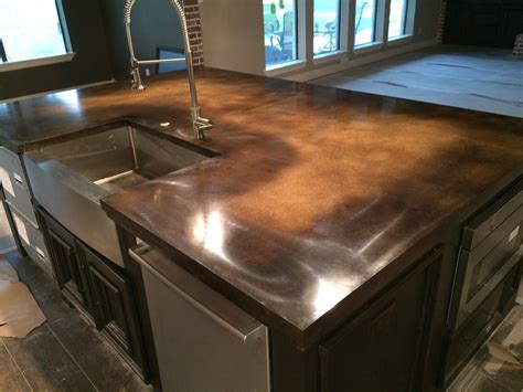 Waxed Concrete Countertops by Countertops And Tables Houston Concrete Countertops