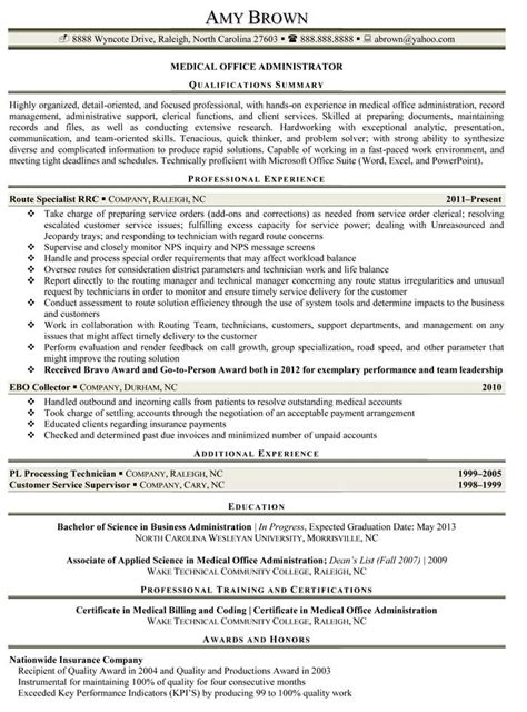 office administration resume template office administrator resume sles recentresumes