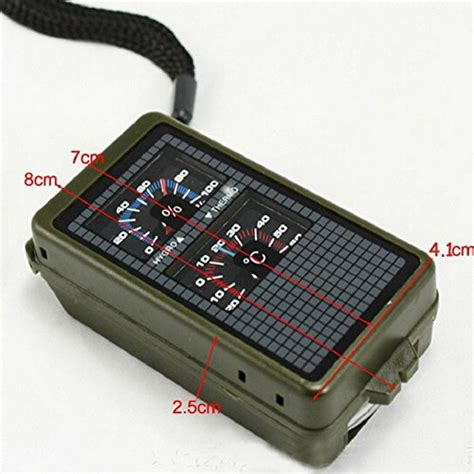 10 In 1 Equipment Cing Hiking Gear Survival Tool Compass Start 10 in 1 multifunctional tool thermometer hygrometer led light reflector spirit level compass