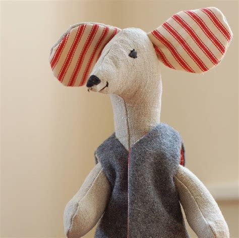 Handmade Soft Toys - handmade mouse doll by handmade at poshyarns