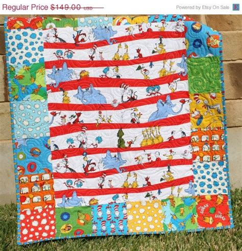 Dr Seuss Quilt Pattern by Dr Seuss Quilt Lorax Bright Baby Boy Or Nursery