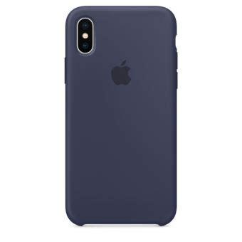 coque en silicone apple bleu nuit pour iphone x etui pour t 233 l 233 phone mobile achat prix fnac