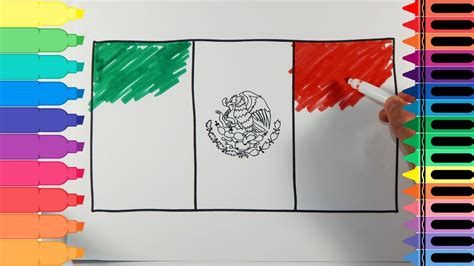 flags of the world to draw how to draw mexican flag 5473