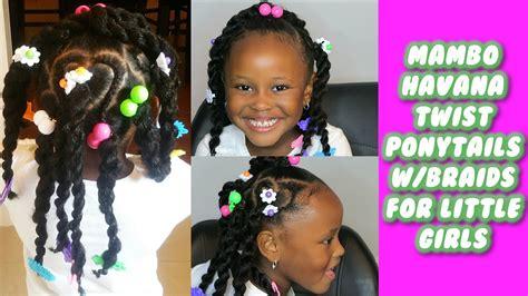 Mambo Havana Twist Ponytails With Braids for Little Girls