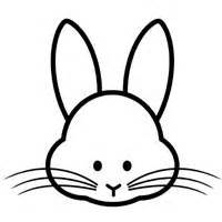 rabbit head coloring page bunny face coloring clipart best