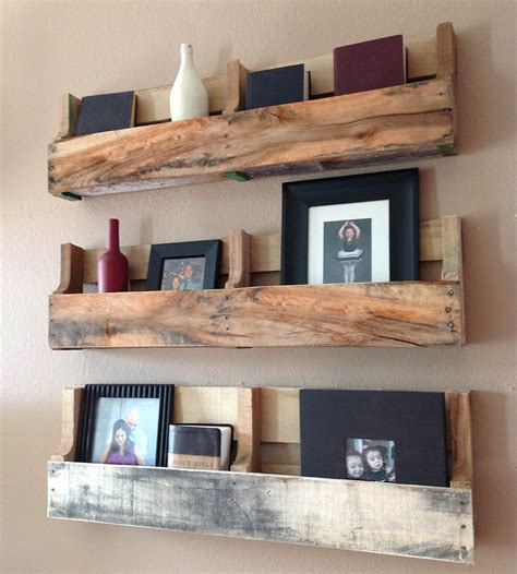 salvaged wood pallet shelves set of 3 home decor