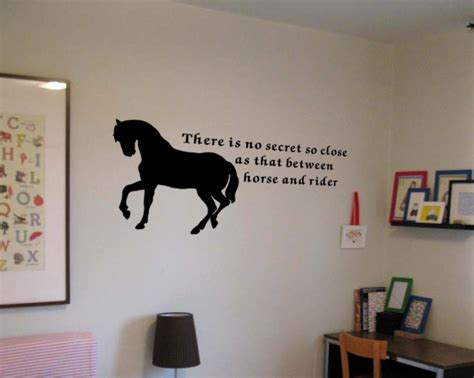 Bedroom Decorating Ideas For Teenage Girls horse and rider wall decals trading phrases