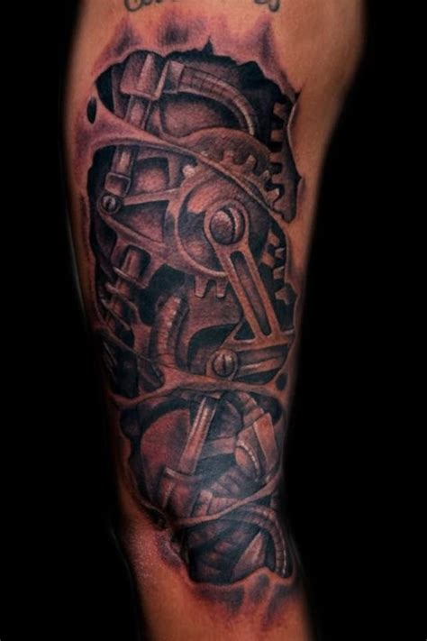 3d mechanical tattoo designs mechanical structure tattoos 3d
