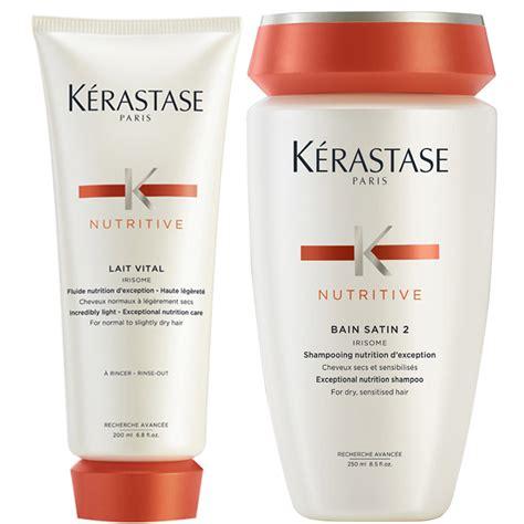 Kerastase 250ml All Varian k 233 rastase nutritive bain satin 2 250ml and nutritive lait vital 200ml free shipping