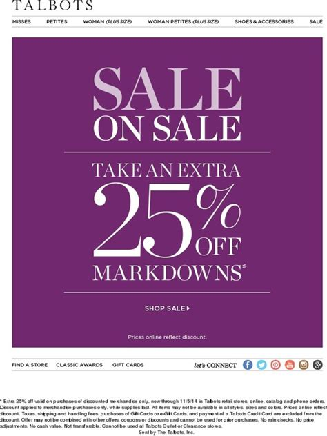 Talbots E Gift Card - talbots our sale s on sale milled