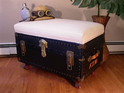 trunk bench seat 1000 ideas about vintage trunks on pinterest steamer