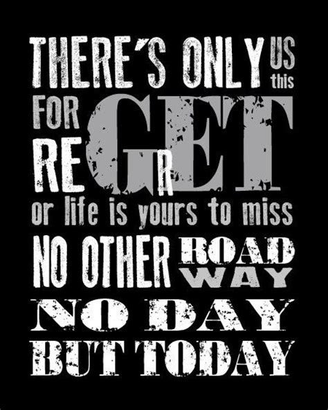 Rent A For A Day by Rent Musical No Day But Today Quote Modern Print Poster