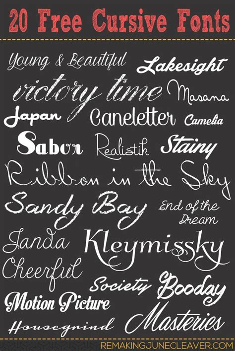 typography fonts cursive 20 free cursive fonts