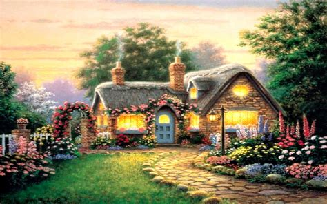 peaceful beautiful cottage wallpapers hd