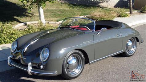 porsche slate grey 1957 porsche 356 vintage speedster brand new slate grey