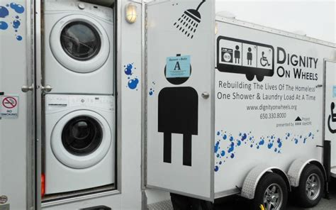 Mobile Showers For The Homeless by Dignity Showers And Laundry For The Homeless Project