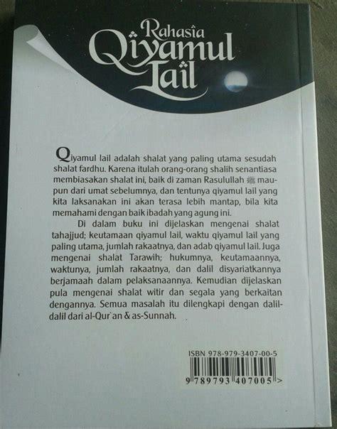 Buku Kitab 40 Manfaat Shalat Berjamaah buku rahasia qiyamul lail hukum tata cara dan keutamaannya