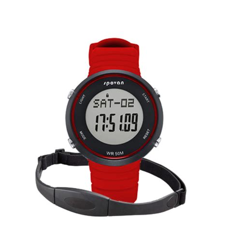 Spovan Spv900 Waterproof Fitness Pedometer Heartrate Monitor manufacturer pedometer silicone wrist rate pedometer silicone wrist